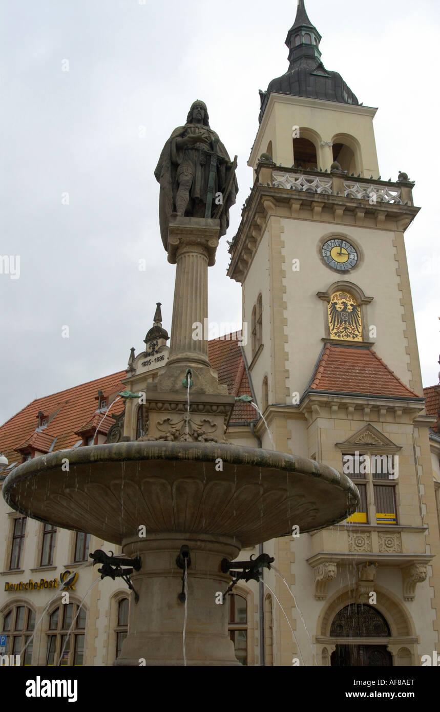 Guestrow, postoffice, Mecklenburg-Pomerania, Germany, Europe - Stock Image