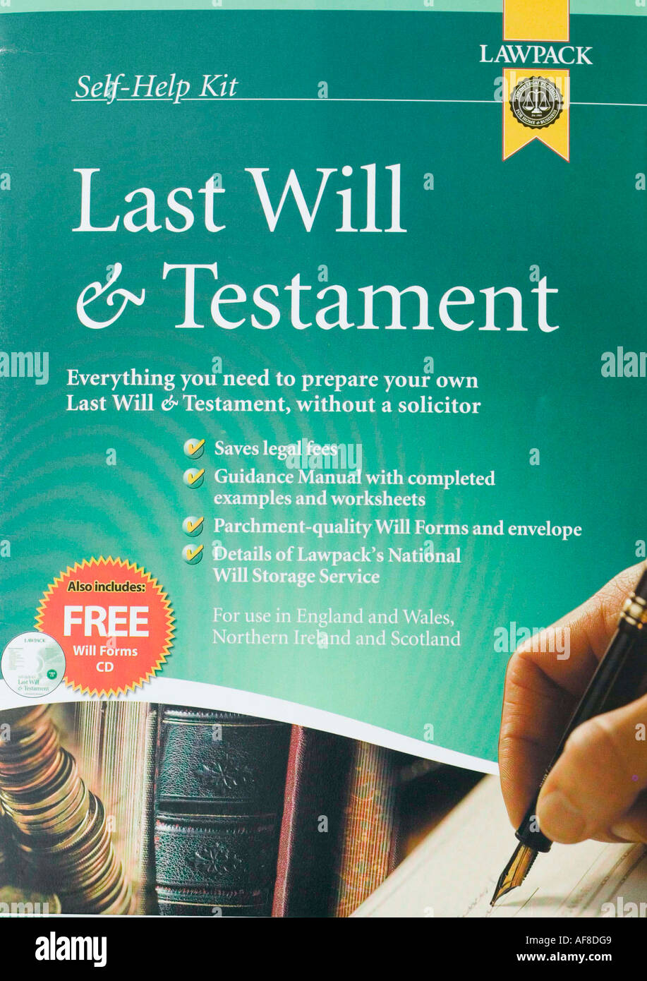 a last will and testament pack - Stock Image