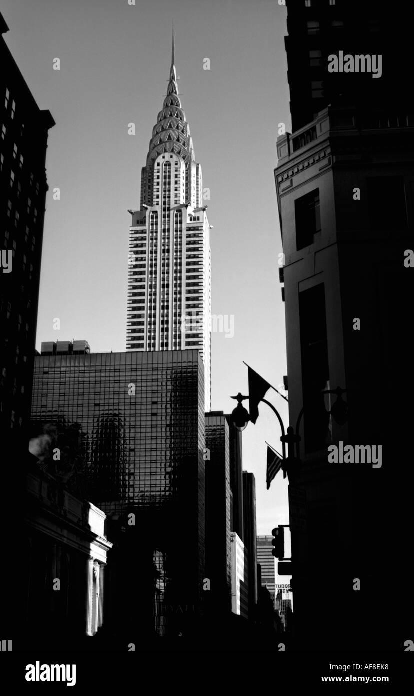 New York Chrysler Building Black And White