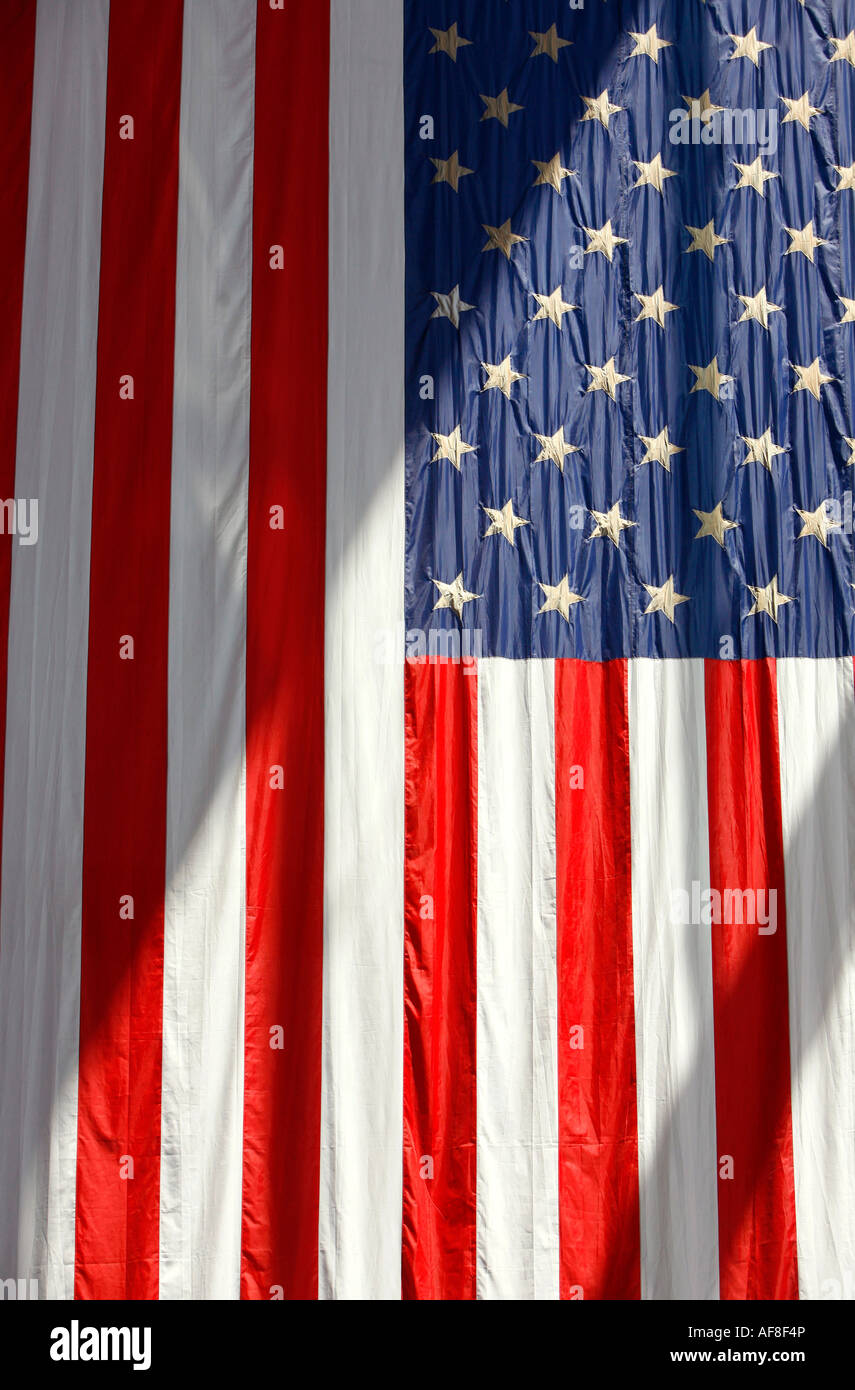 Close up of the American Flag, Stars and Stripes, Washington DC, United States, USA - Stock Image