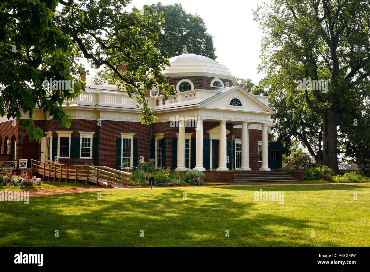 View At Thomas Jefferson S Home Monticello Virginia Usa Stock
