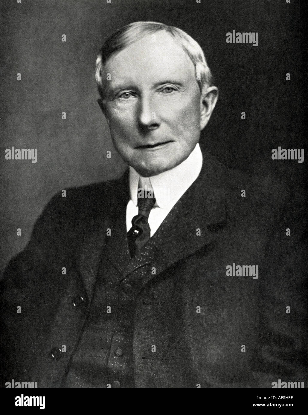 JOHN D ROCKEFELLER American industrialist and philanthropist 1839 1937 - Stock Image