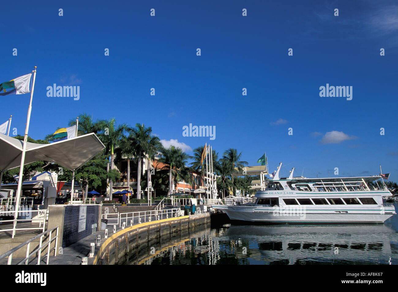 Miami Florida FL Bayside South Beach Boats at anchor in marina - Stock Image