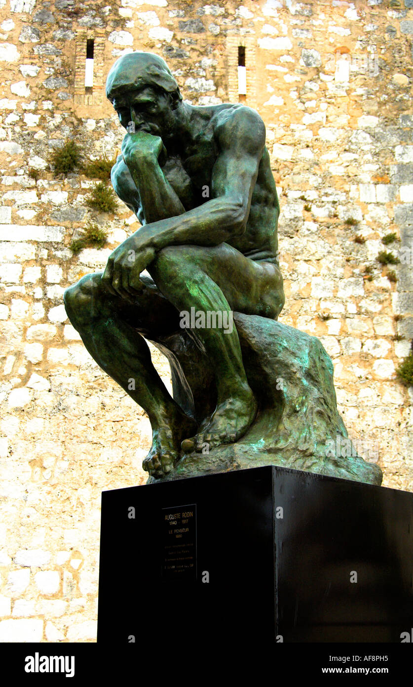 The Thinker Le Penseur by Auguste Rodin - Stock Image