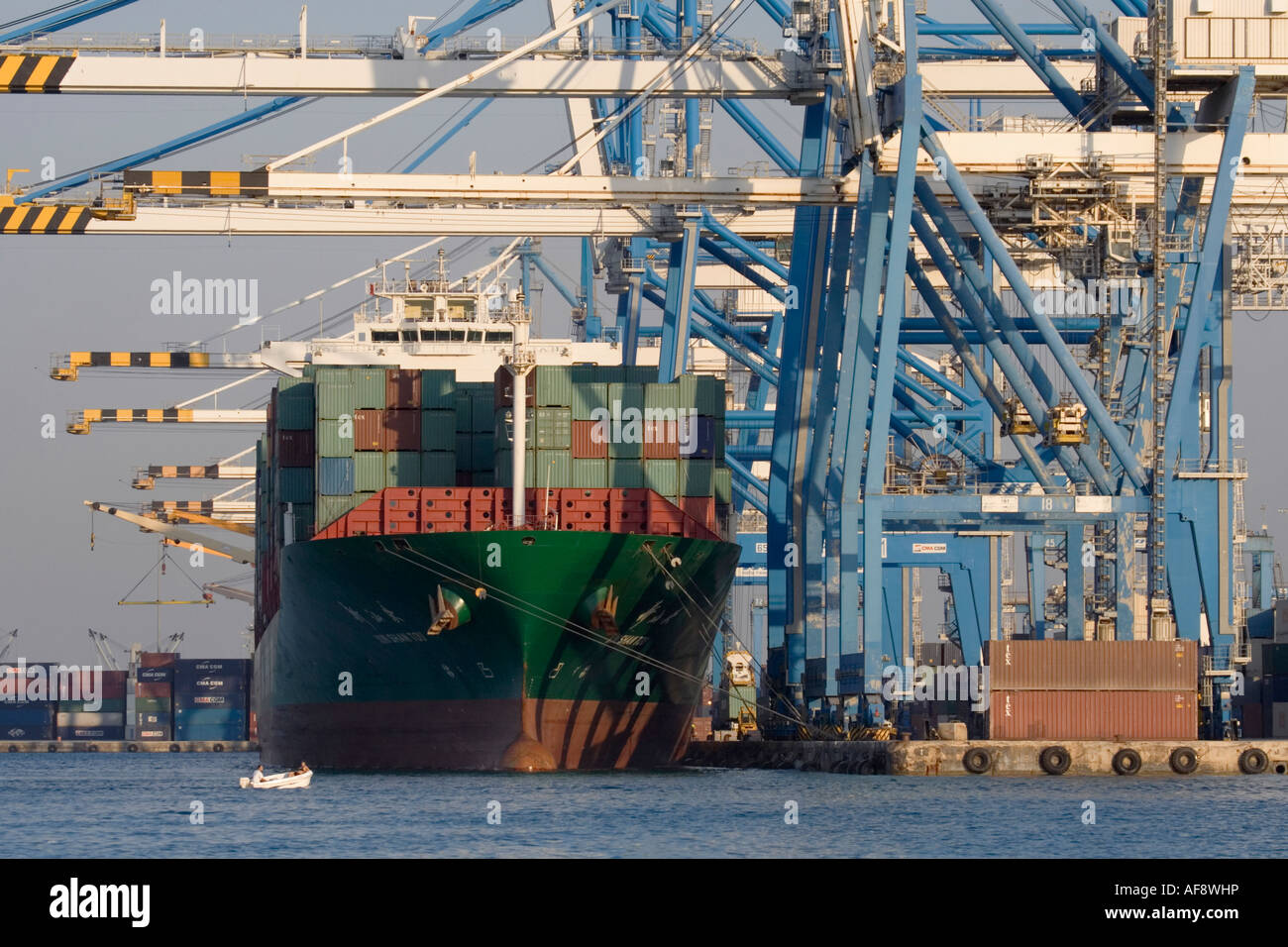Container ship in port  Shipping, sea transport logistics