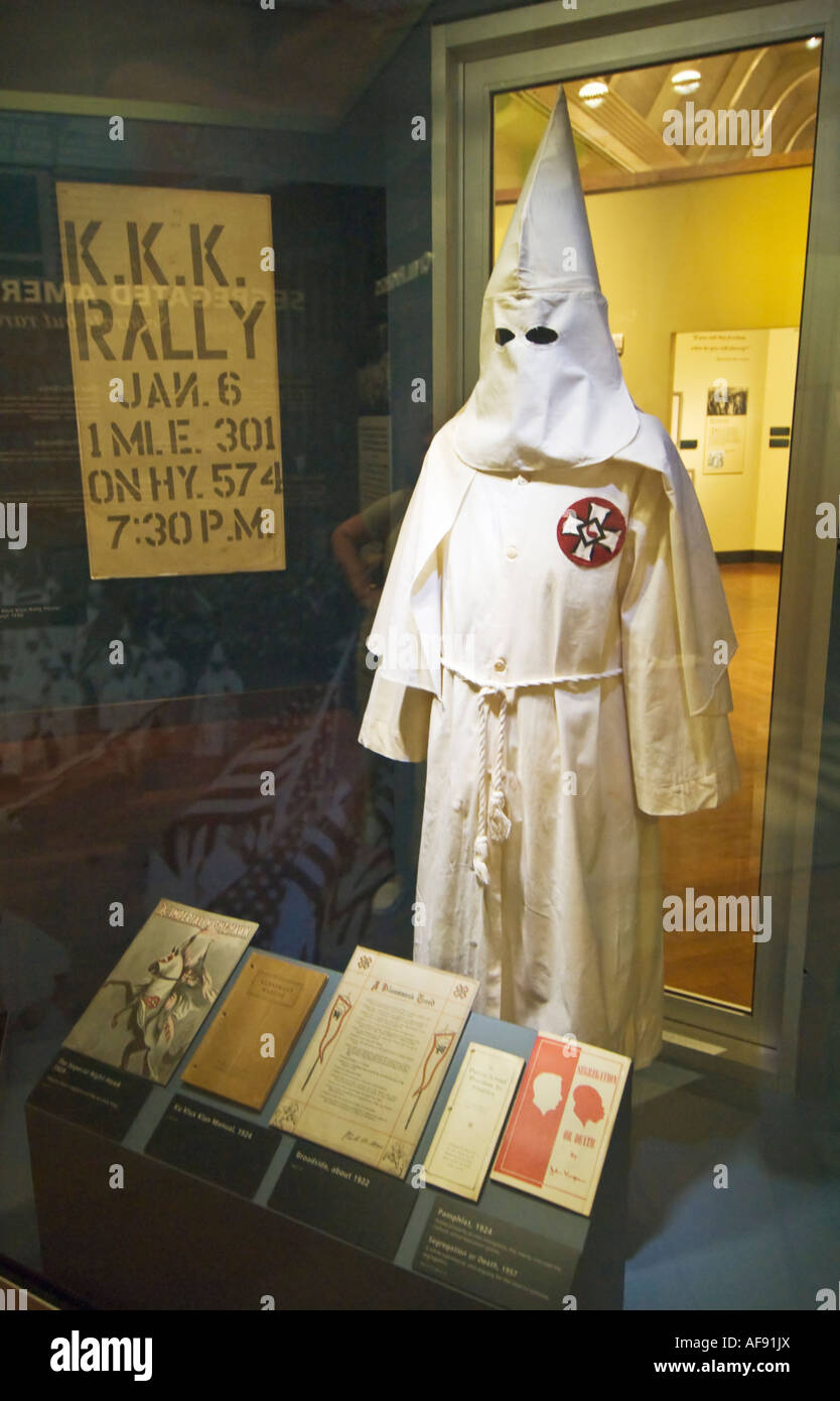 Michigan Dearborn The Henry Ford Museum Klu Klux Klan KKK Exhibit Stock Photo