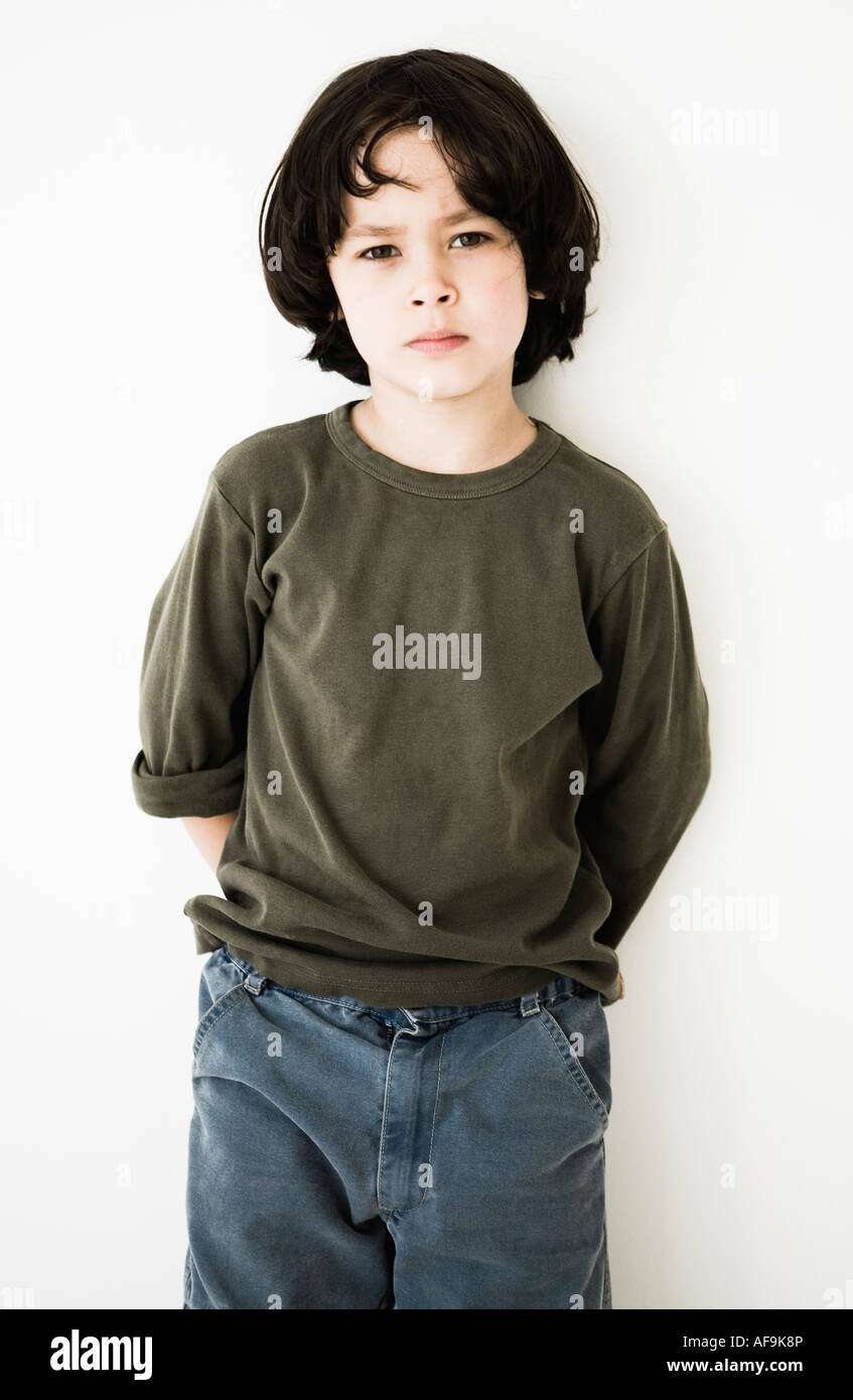 Portrait Of A Little Boy With Long Hair Model Released Stock Photo Alamy