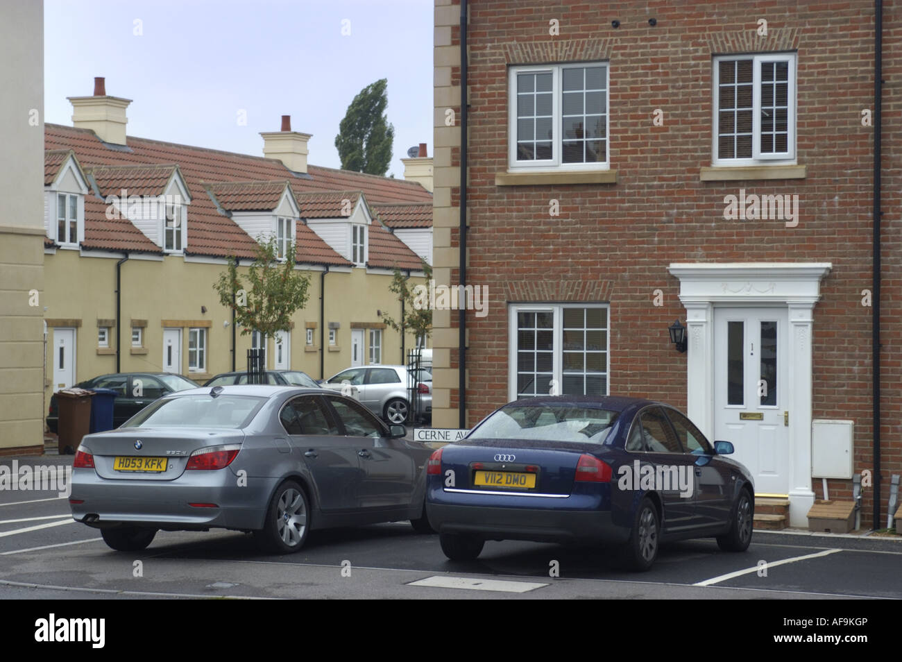New Estate in Gillingham North Dorset - Stock Image