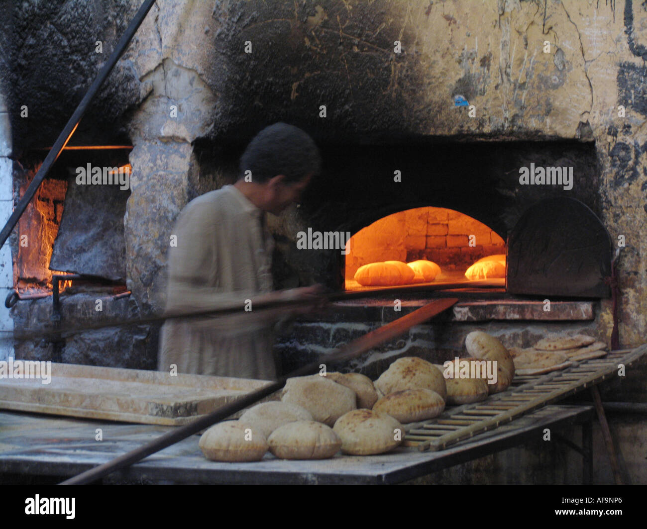Bread Bakery With Stone Oven In Old Islamic Quarter Of Cairo Egypt Kairo