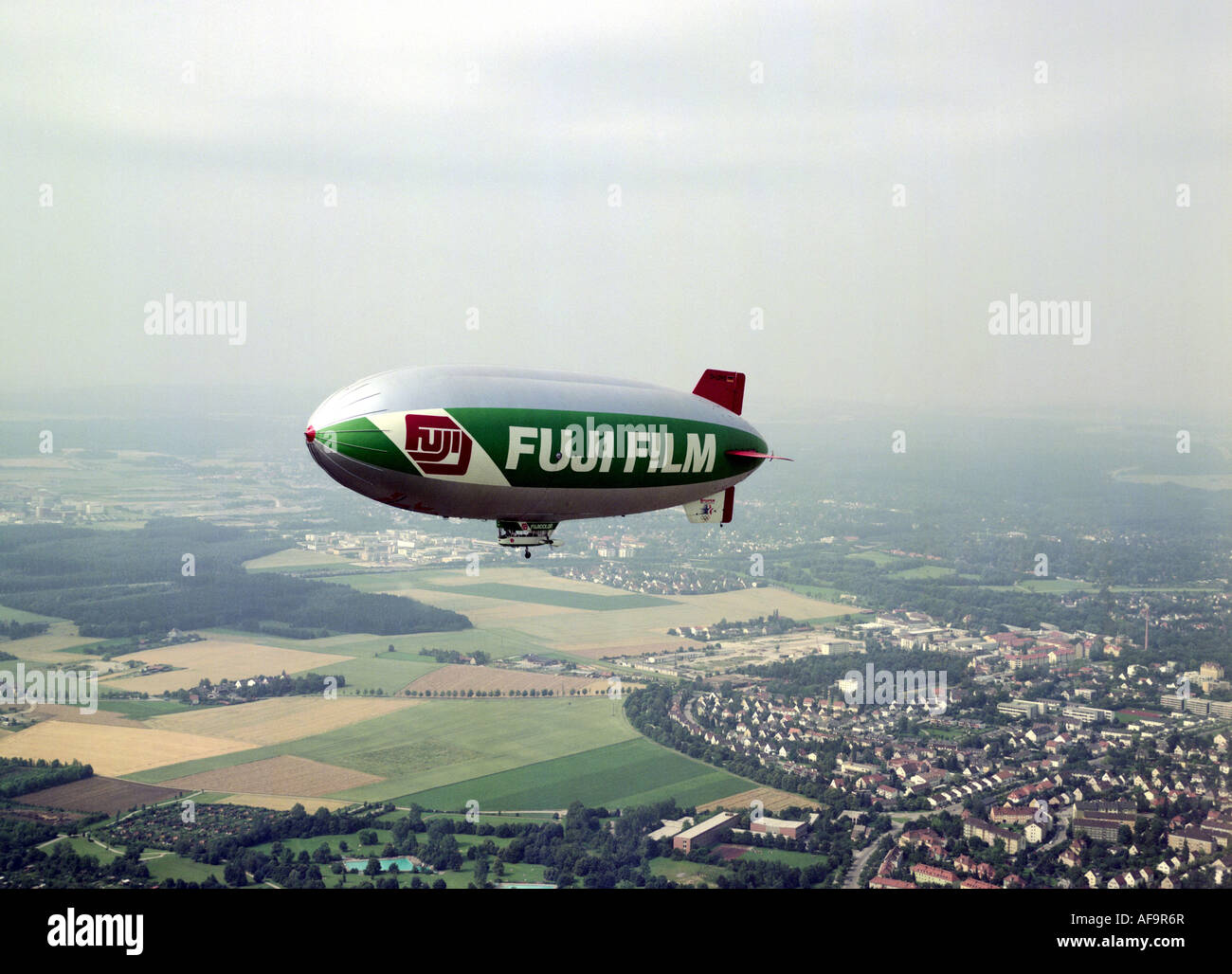 Fuji blimp over Germany, Germany - Stock Image