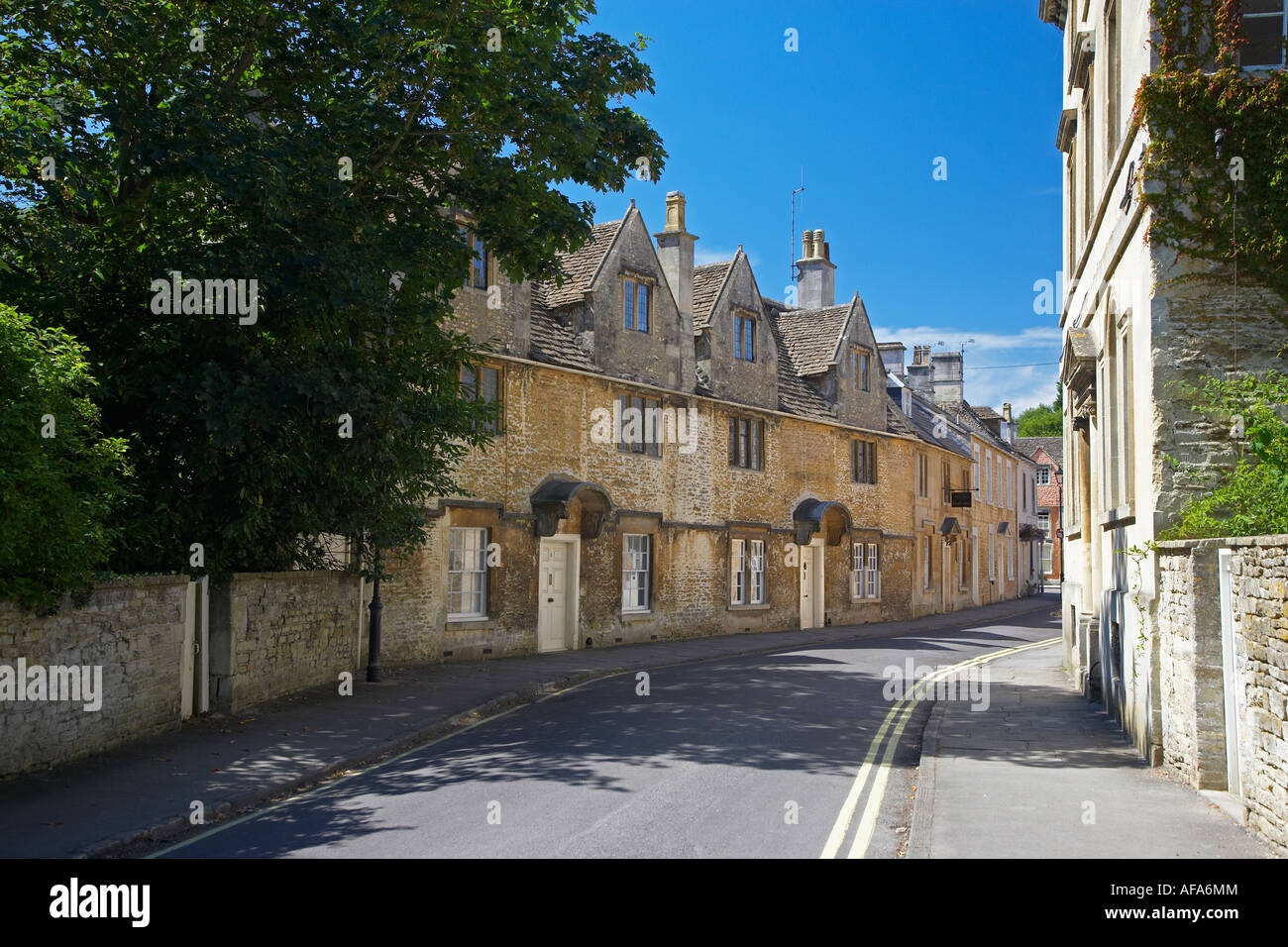 Cottages in Corsham, Wiltshire, England, UK Stock Photo