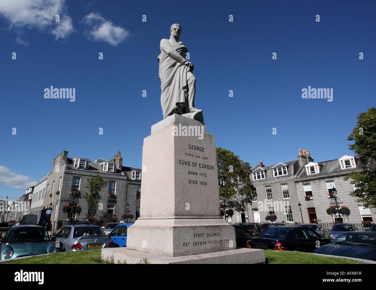 Golden Square in Aberdeen City centre, Scotland, UK Stock Photo