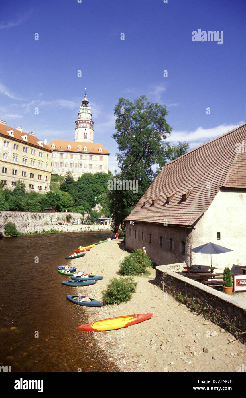 Travel photography from Eastern Europe South Bohemia Czech republic - Stock Image