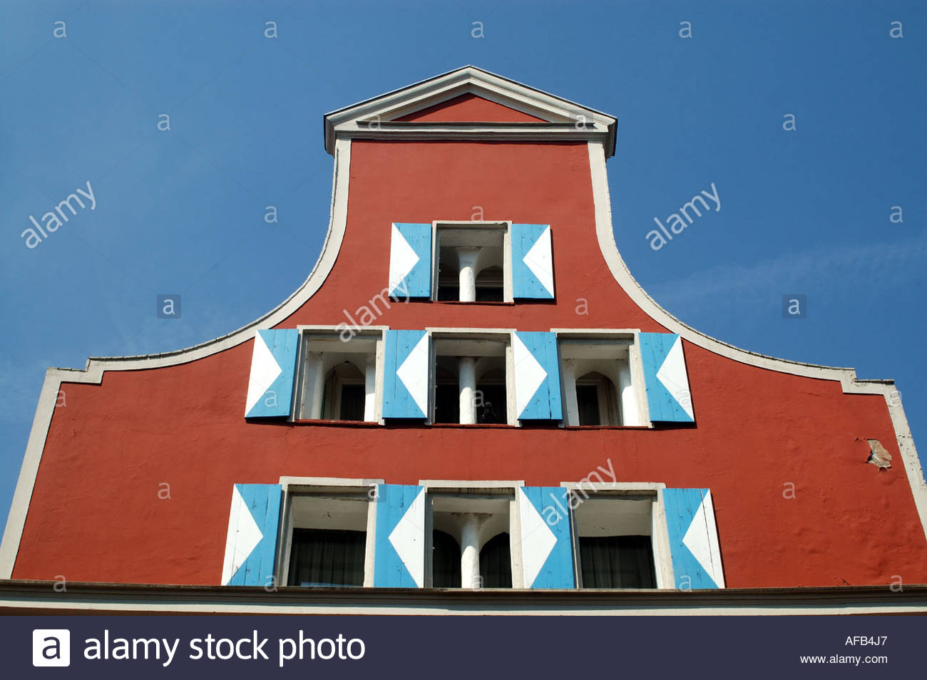 Wismar Germany Gables of houses in the Altstadt. - Stock Image