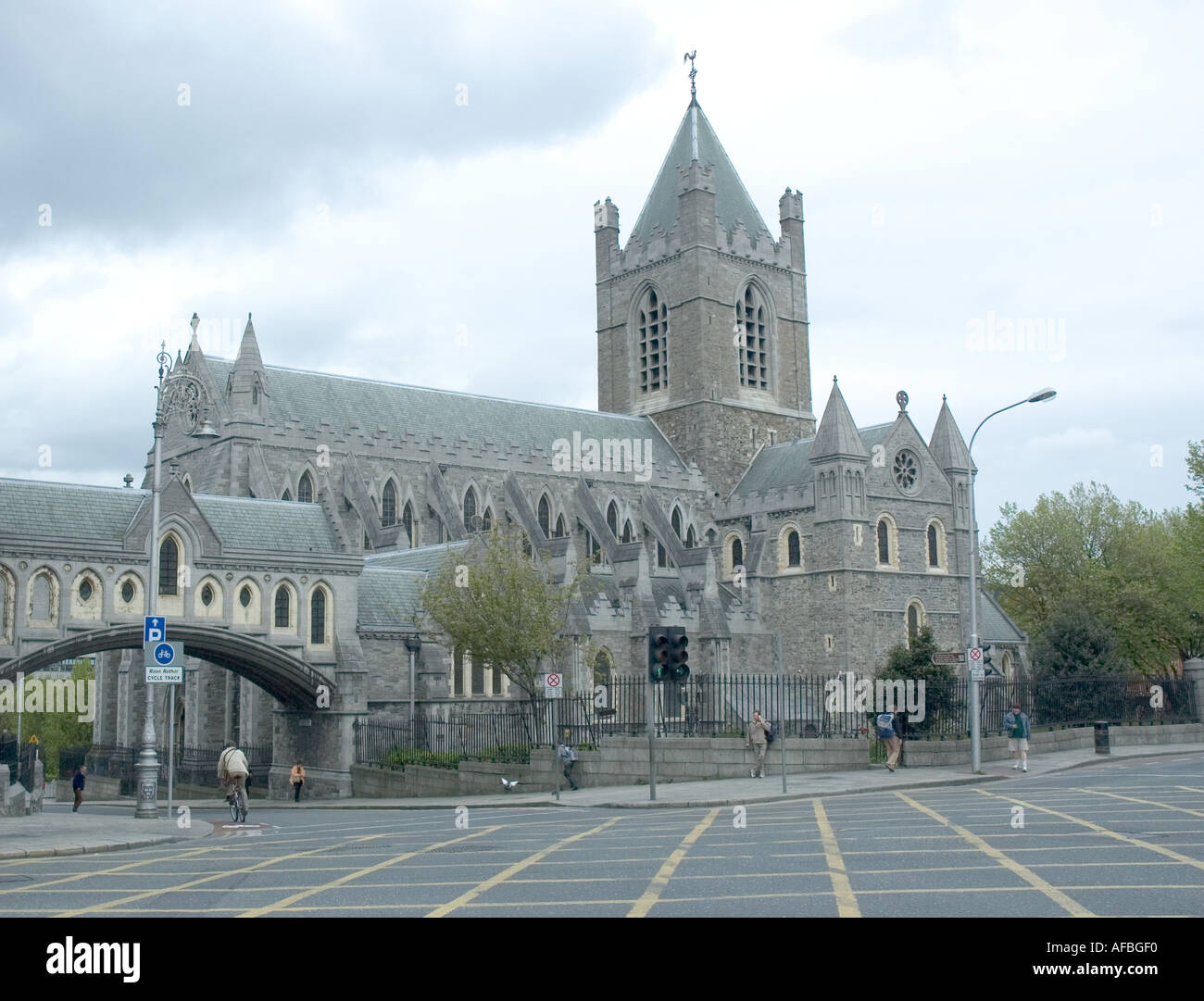 Christchurch Cathedral in Dublin Ireland - Stock Image