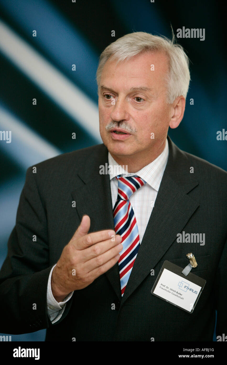Prof Dr Ulrich Buller executive board of the research planning the Fraunhofer Gesellschaft - Stock Image