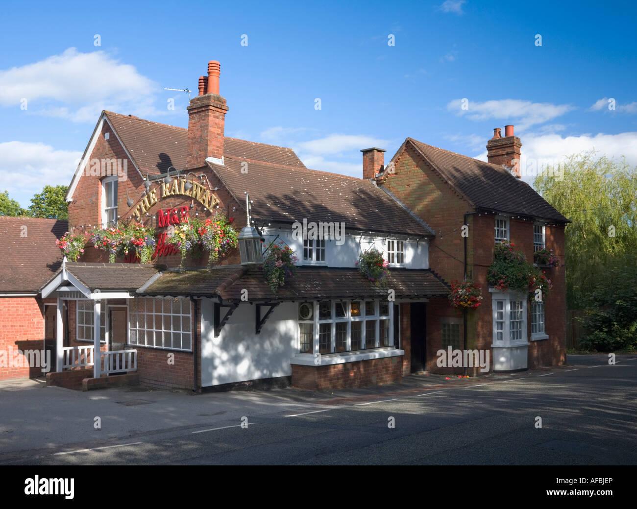 The Railway Inn near Dorridge West Midlands England - Stock Image