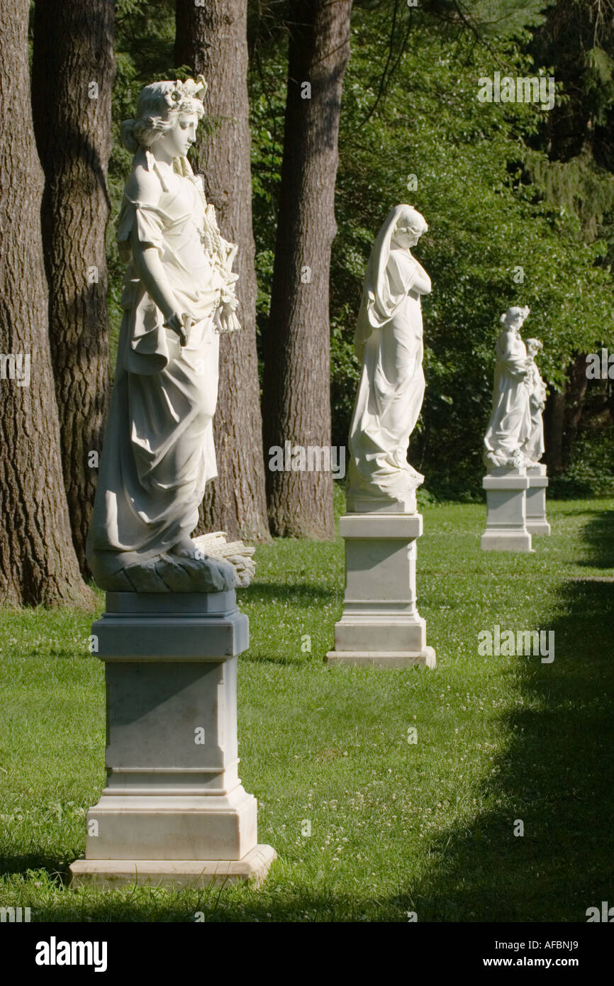 Statuary at Yaddo Gardens Saratoga Springs New York - Stock Image