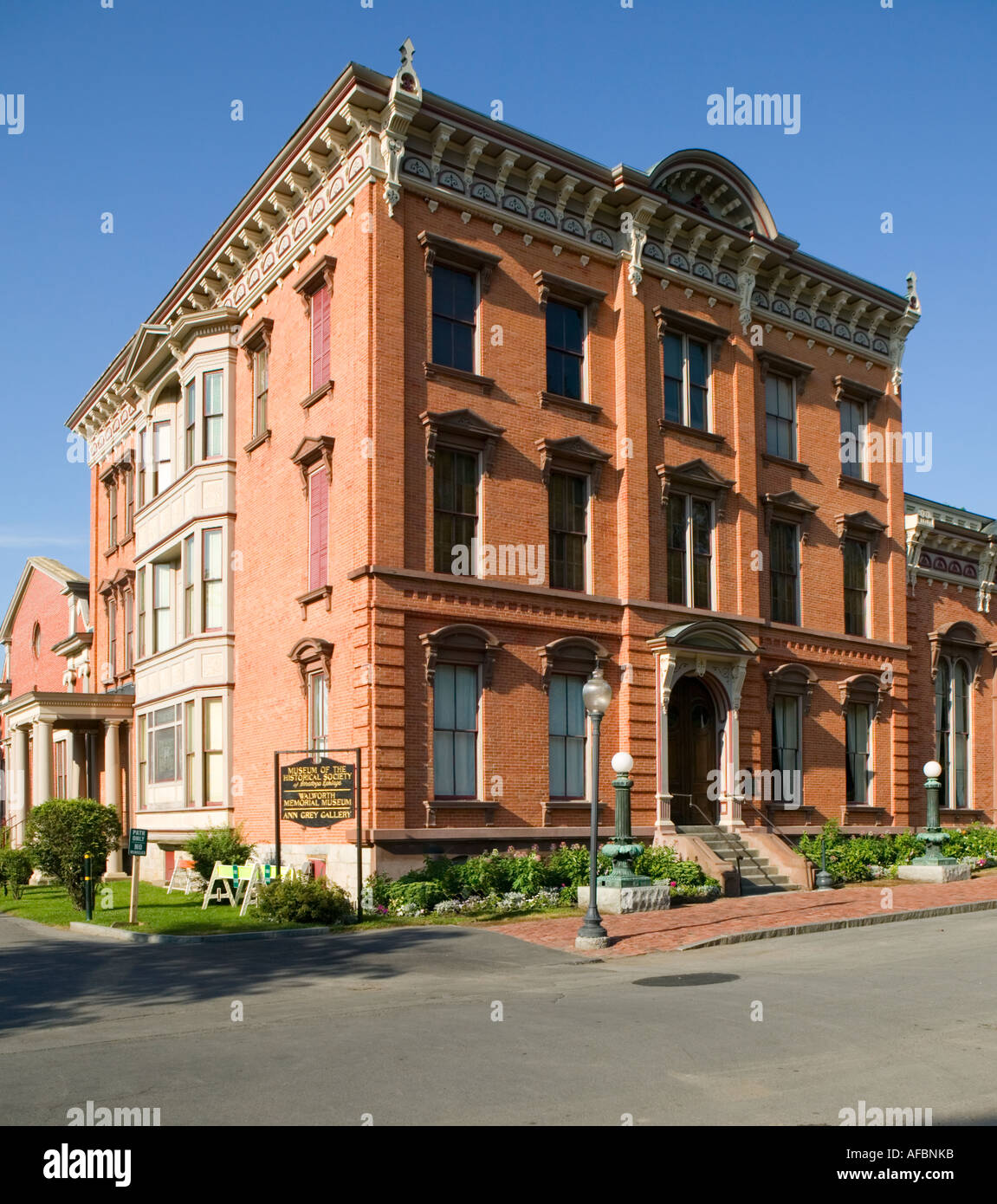Museum of the Historical Society of Saratoga Springs New York in Congress Park - Stock Image