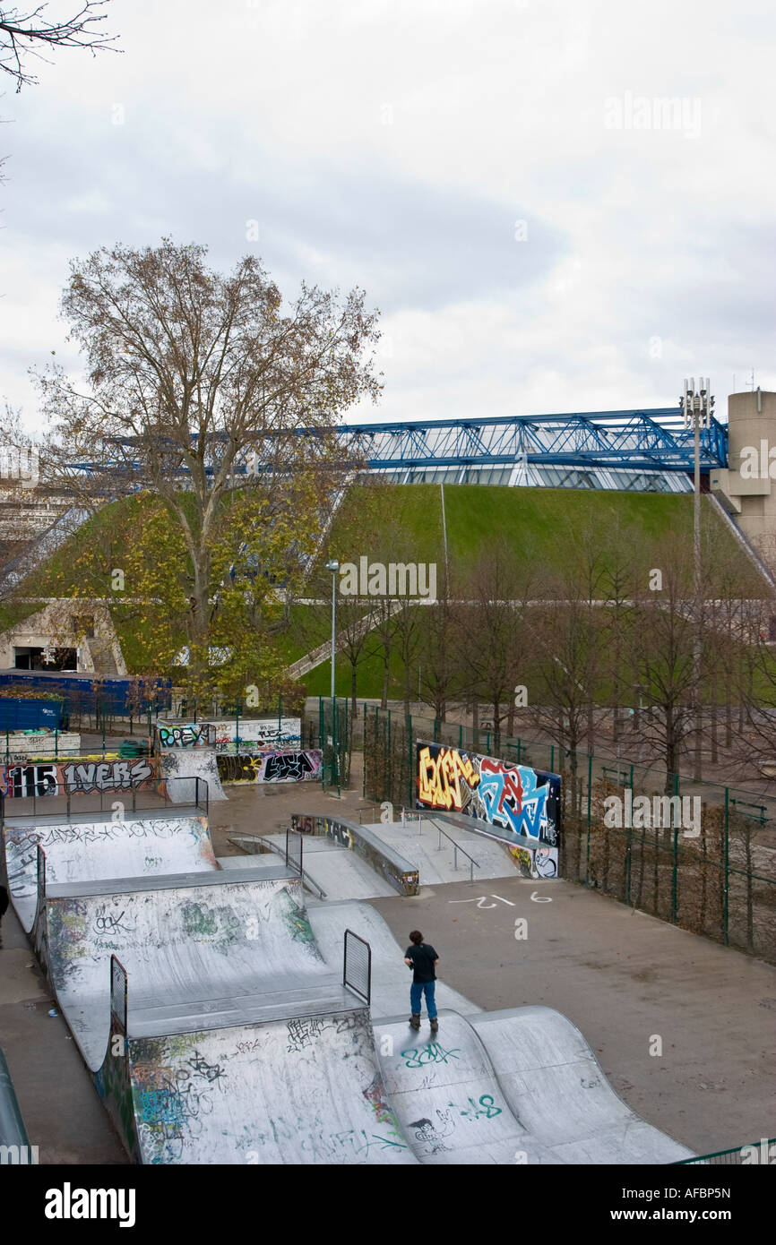 Skateboard Park Palais Omnisports de Paris Bercy - Stock Image