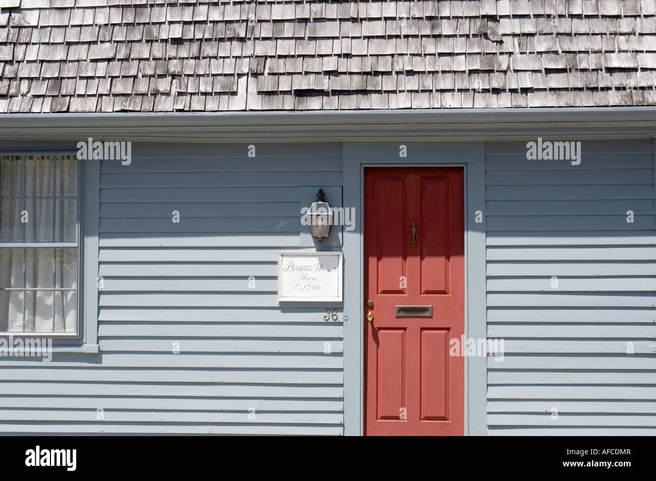 old house in newport rhode island - Stock Image