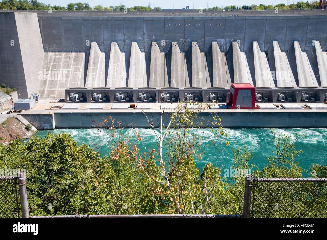 Ontario Hydro Electricity Plant Niagara River Ontario Canada Kanada Electric Power - Stock Image