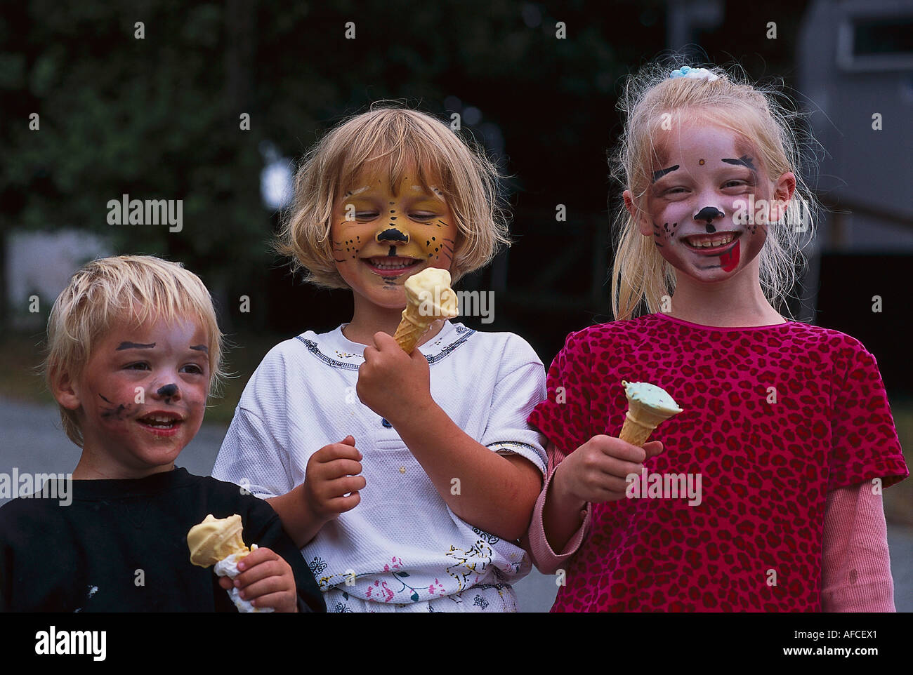 Painted Faces, National Seal Colony, Near Gweek Cornwall, England - Stock Image