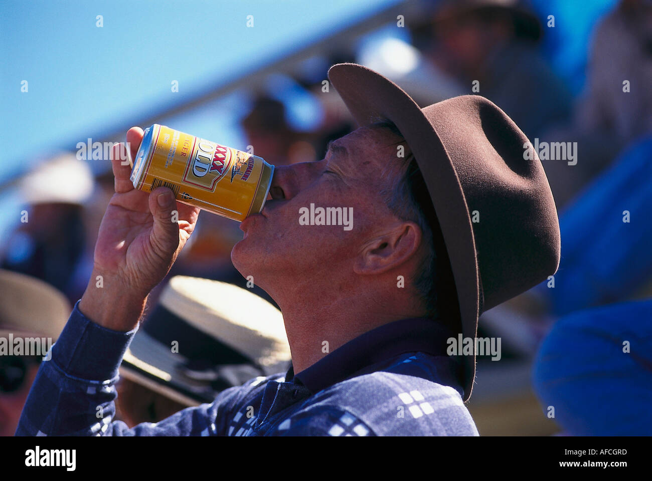 Warren Thomas with XXXX, Mareeba Rodeo, Mareeba Queensland, Australia - Stock Image