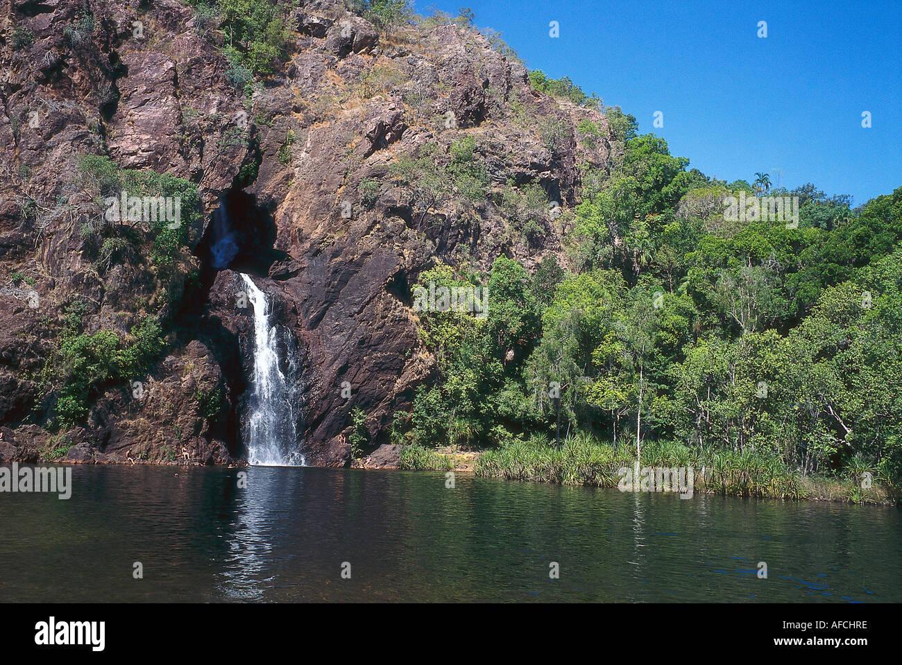 Wangi Falls, Litchfield NP NT, Australia - Stock Image