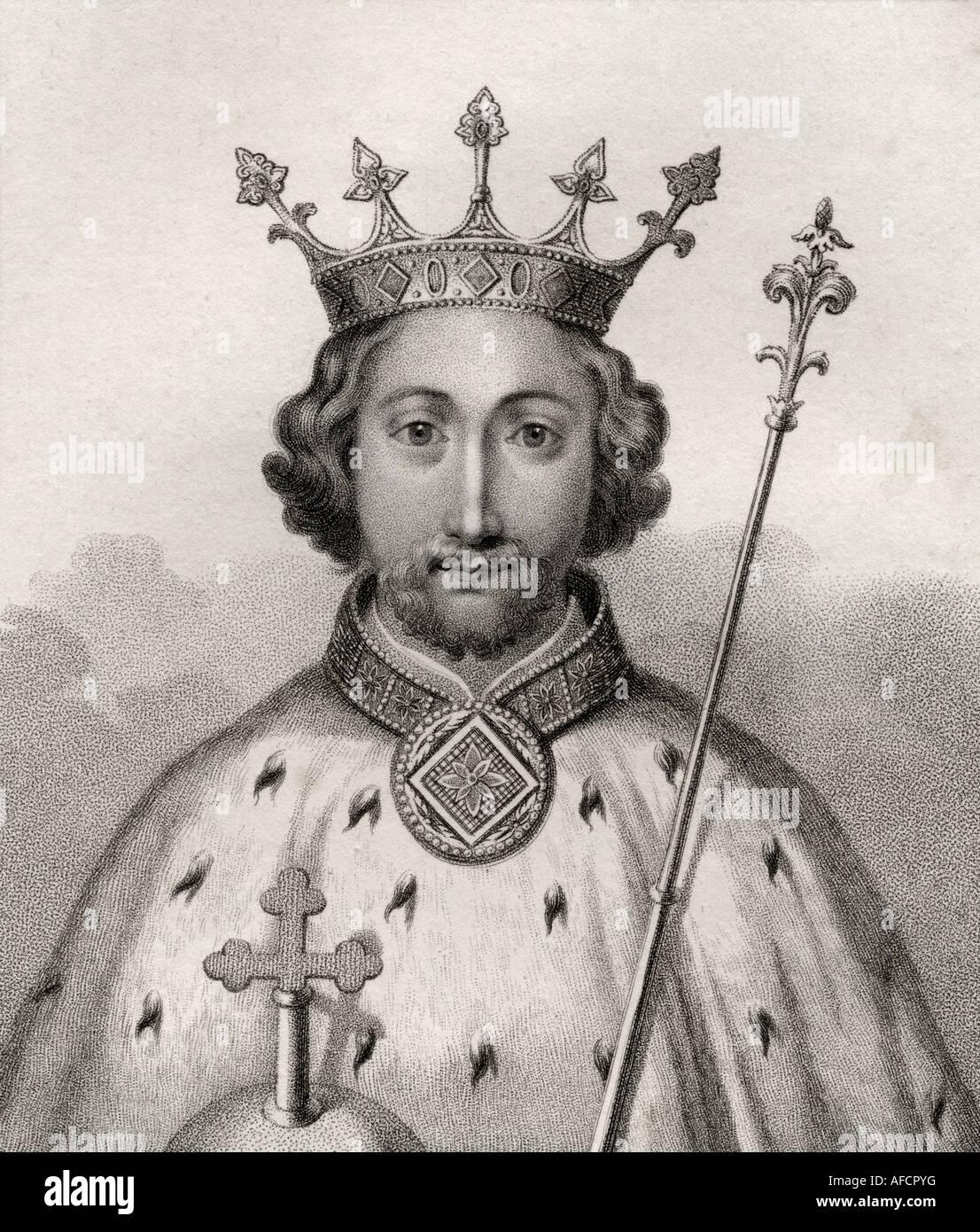 Richard II 1367 1400 King of England - Stock Image