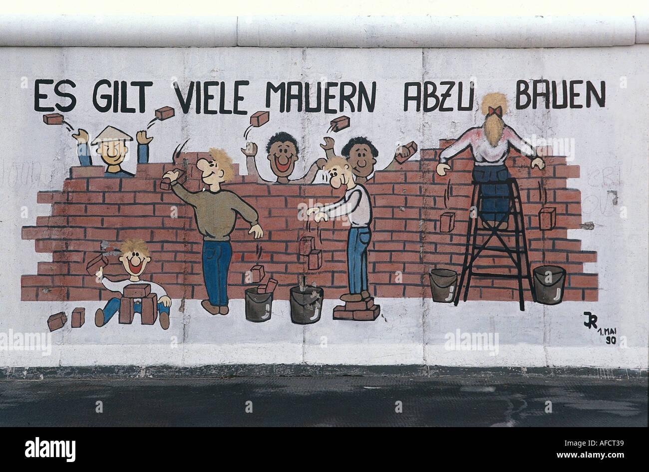 Geography Travel Germany Berlin Wall Art East Side Gallery