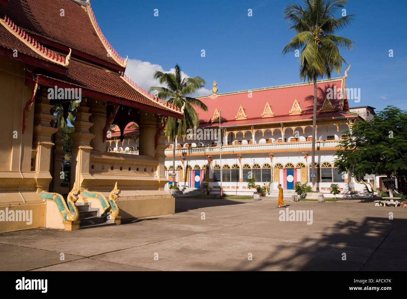 Within the grounds of Wat Ong Teu Mahawihan, Vientiane, Laos Stock Photo