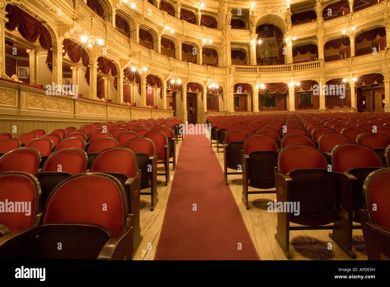 inside an old theater - Stock Image