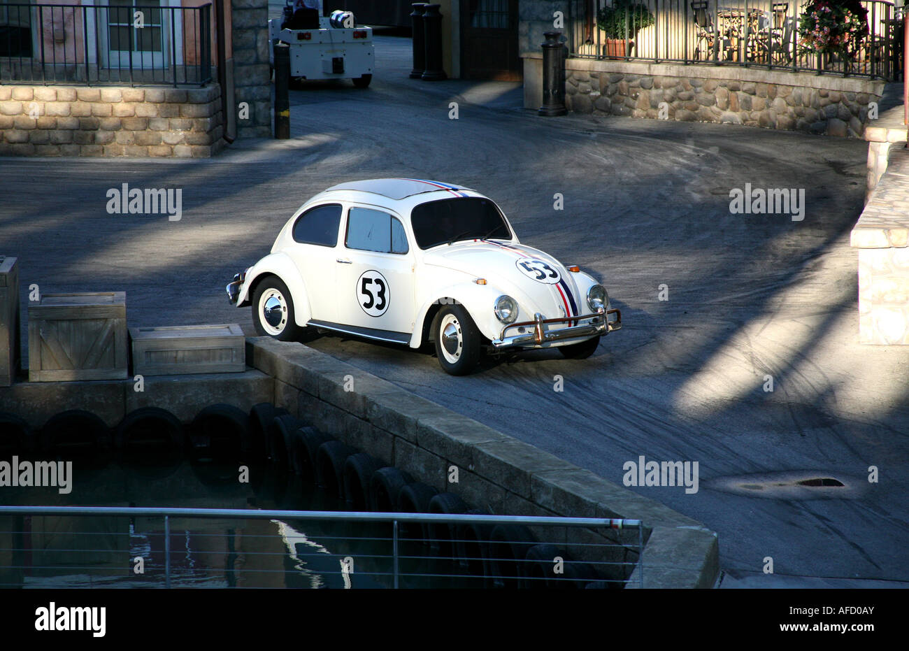 MGM Metro Goldwyn Mayer Studios at Disney World Orlando special stunts and effects show with Herbie - Stock Image