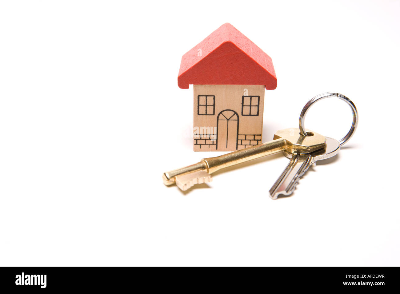 Owner home sweet home first time buyer house keys to new property - Stock Image