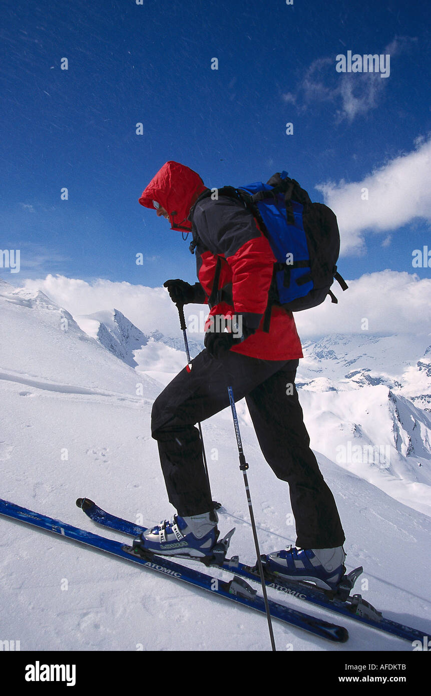 Ski-Tour, Aufstieg Stock Photo