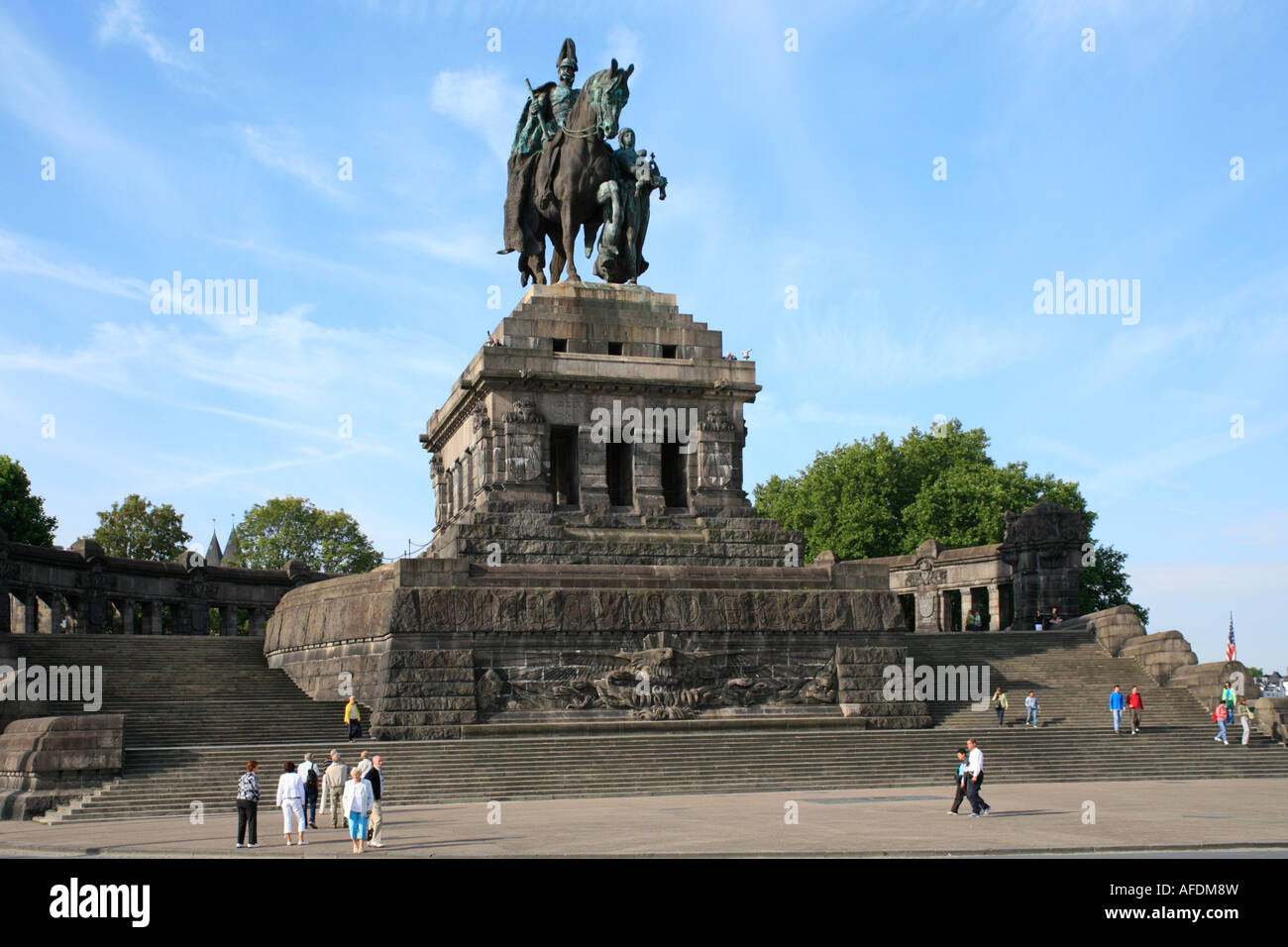 the equestrian statue of kaiser wilhelm i at the german corner stock photo 13914984 alamy. Black Bedroom Furniture Sets. Home Design Ideas
