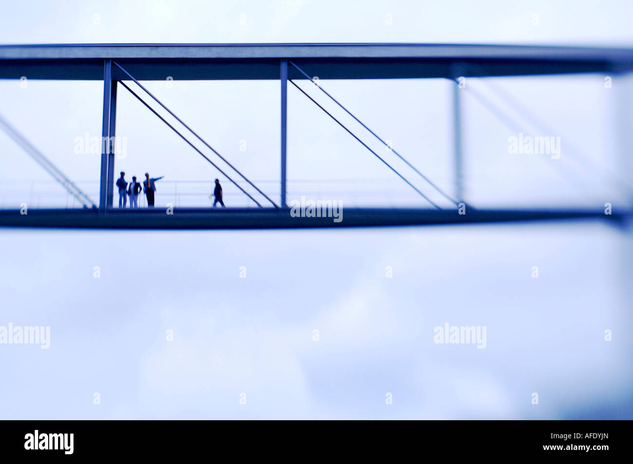 Germany, Berlin, bridge for members of the Bundestag - Stock Image