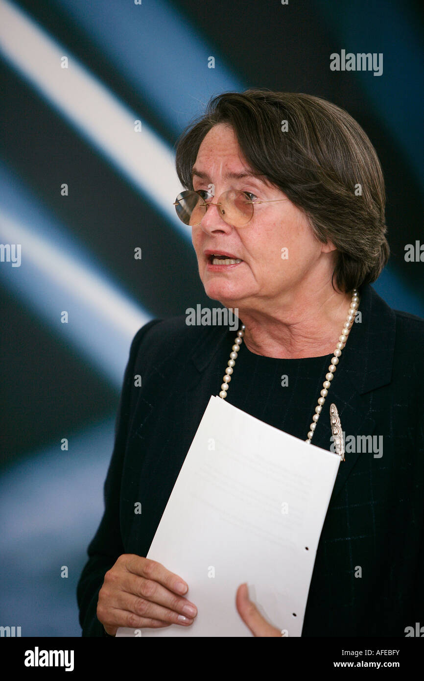 Christa Thoben Minister of Trade and Commerce of North Rhine Westphalia - Stock Image
