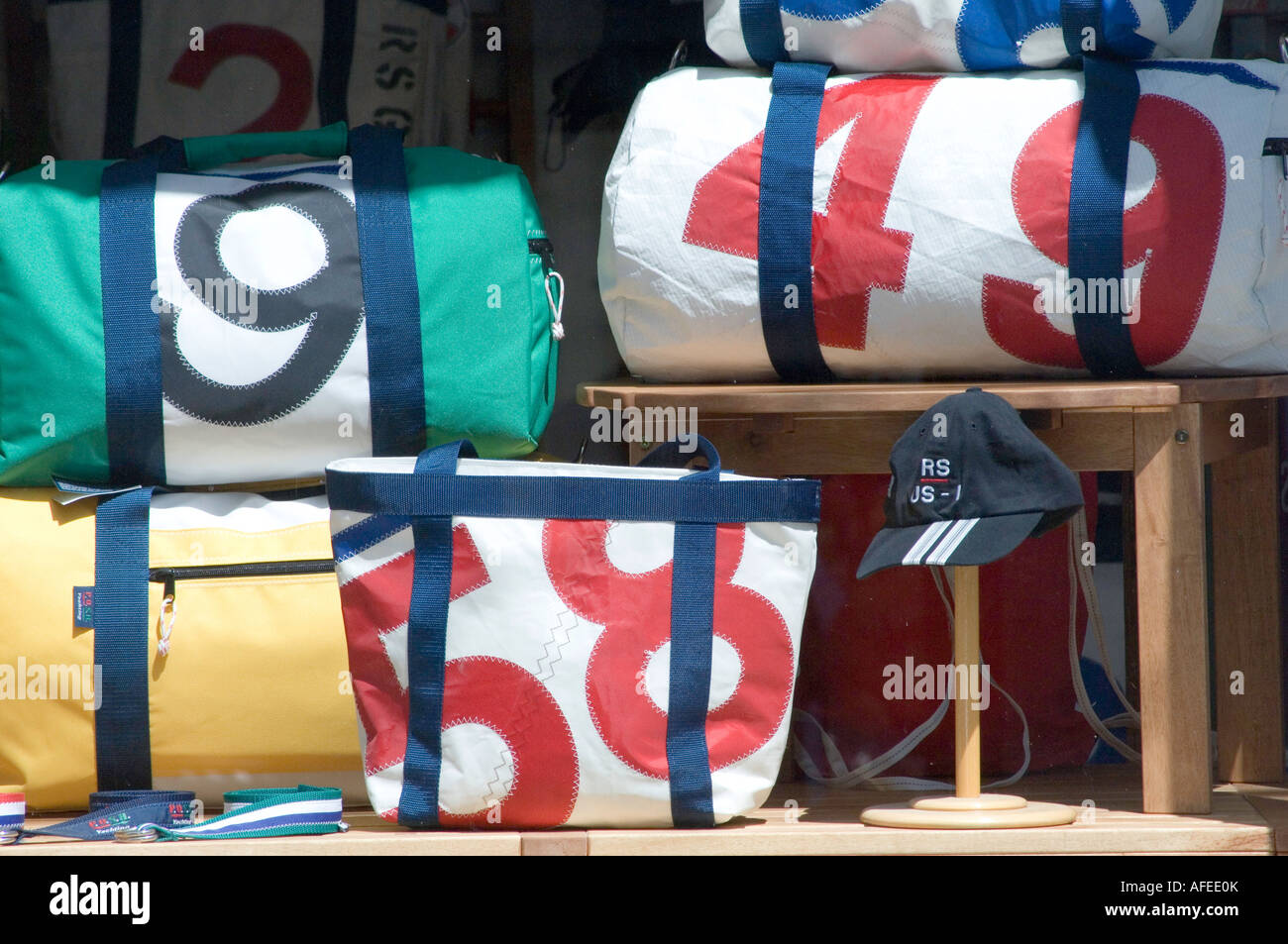 sports bags in newport rhode island - Stock Image