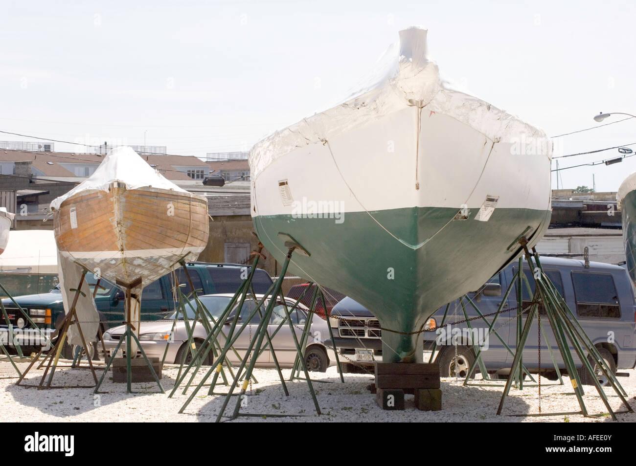 boats in newport rhode island - Stock Image