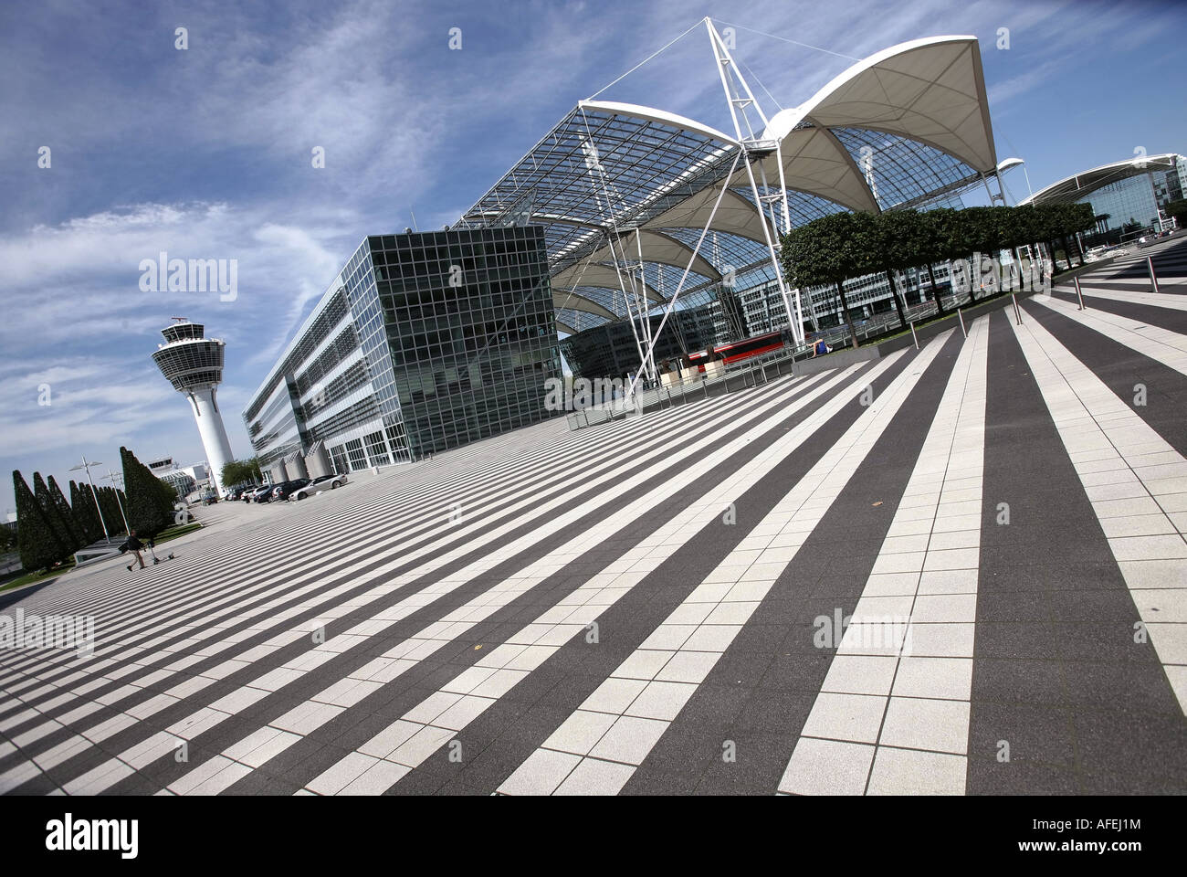 Illustration Airport:  Terminal 1 at Munich Airport - Stock Image