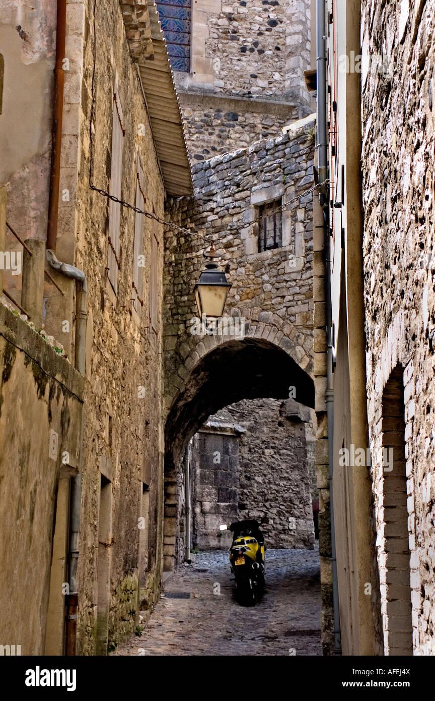 Vivier Ardèche Rhône Alpes Rhone Valley France Medieval French city Stock Photo