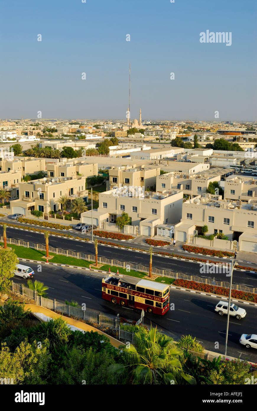 skyline of suburb, Dubai, United Arab Emirates - Stock Image