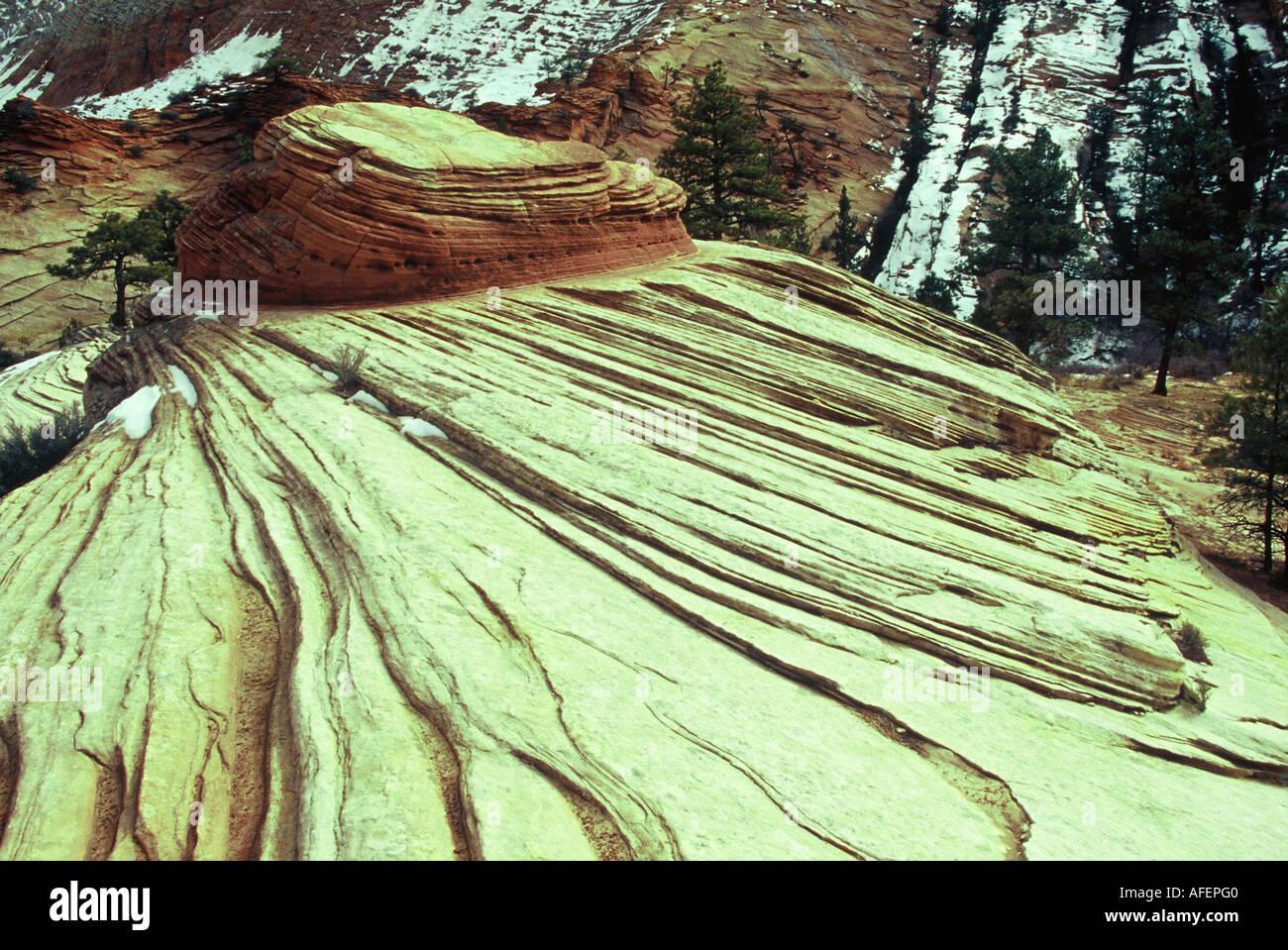 Sedimentary rock strata - Stock Image