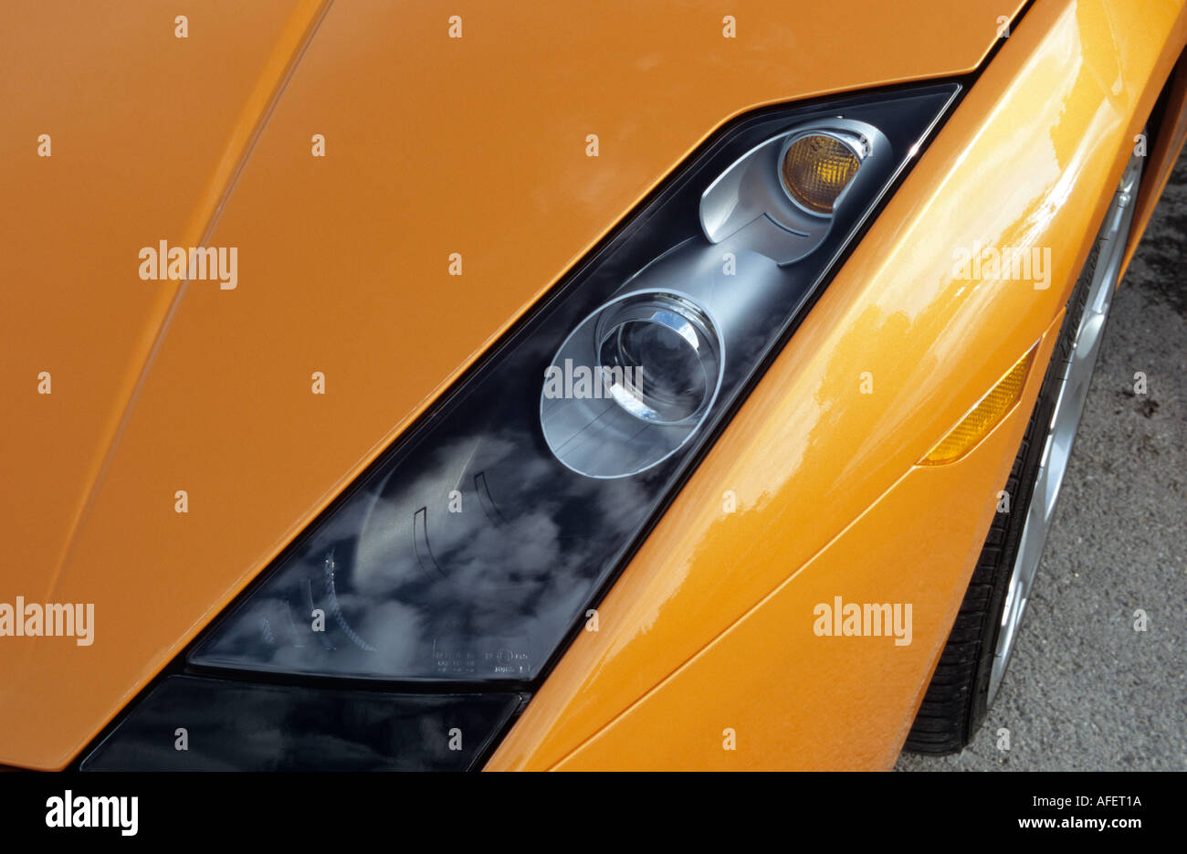 Lamborghini Gallardo Headlights Stock Photos Lamborghini Gallardo