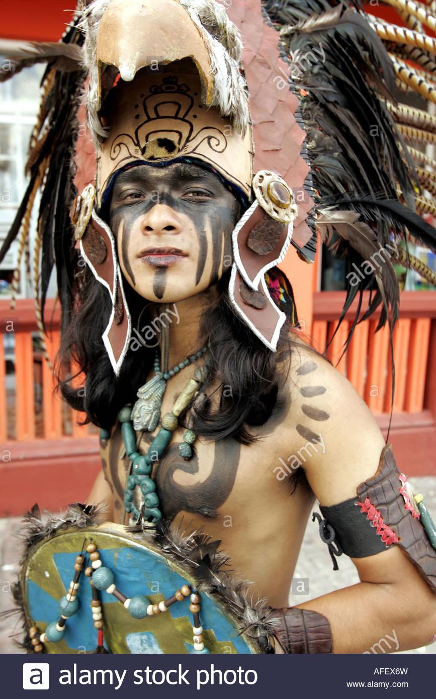 Cozumel, Mayan Street Entertainers - Stock Image