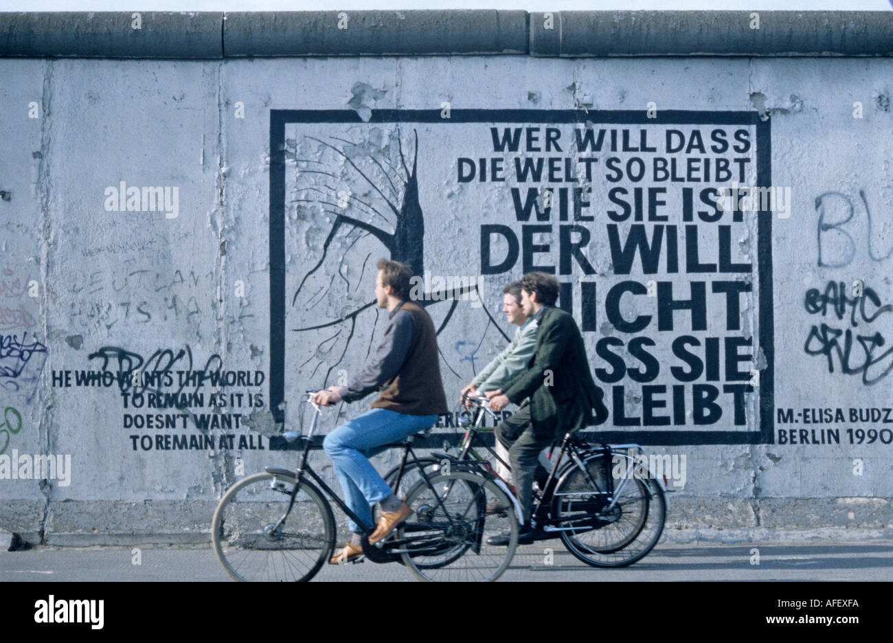 Art on The Wall East Berlin Germany - Stock Image