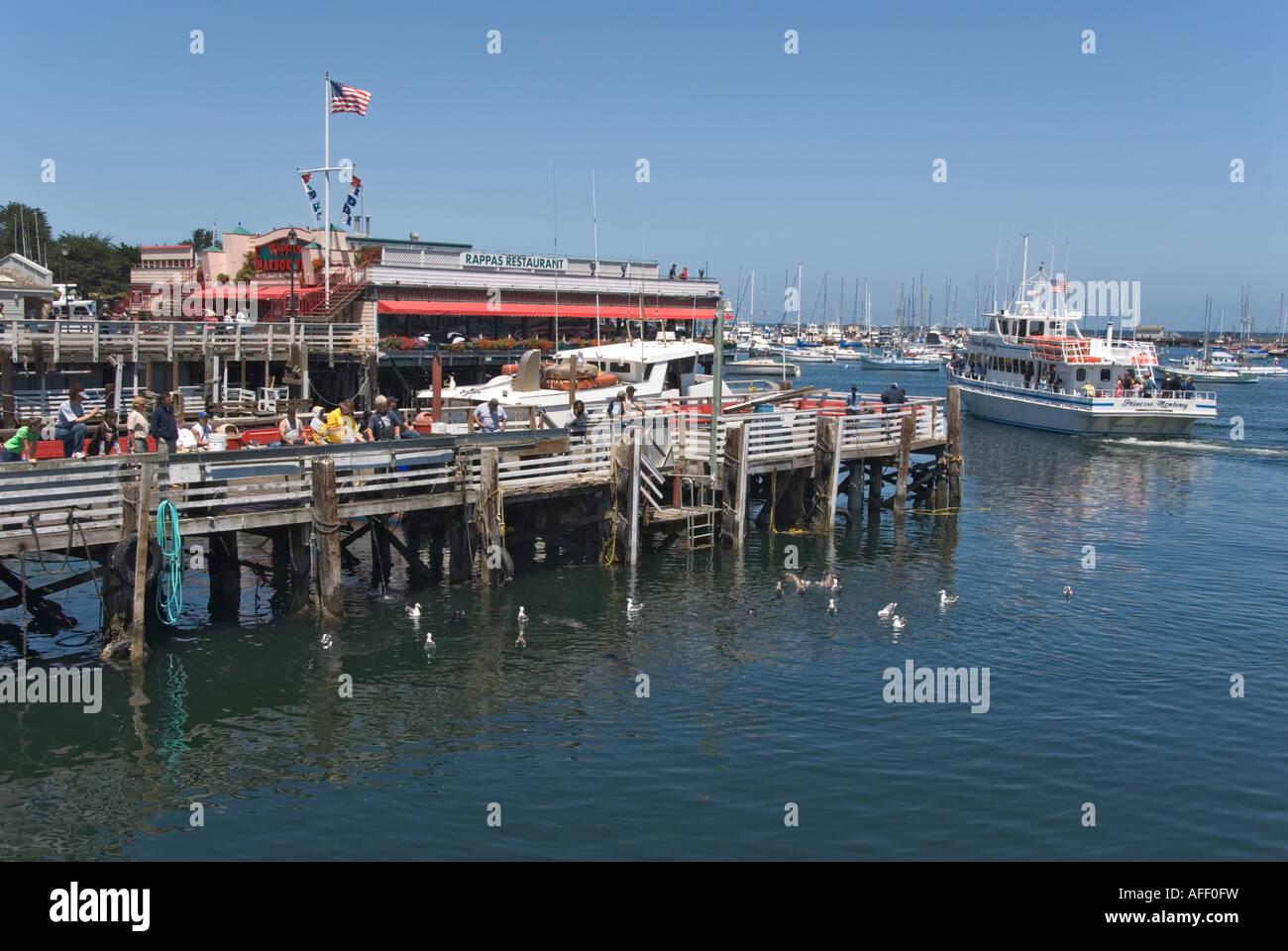 California Monterey Fisherman's Wharf whale watching boat - Stock Image