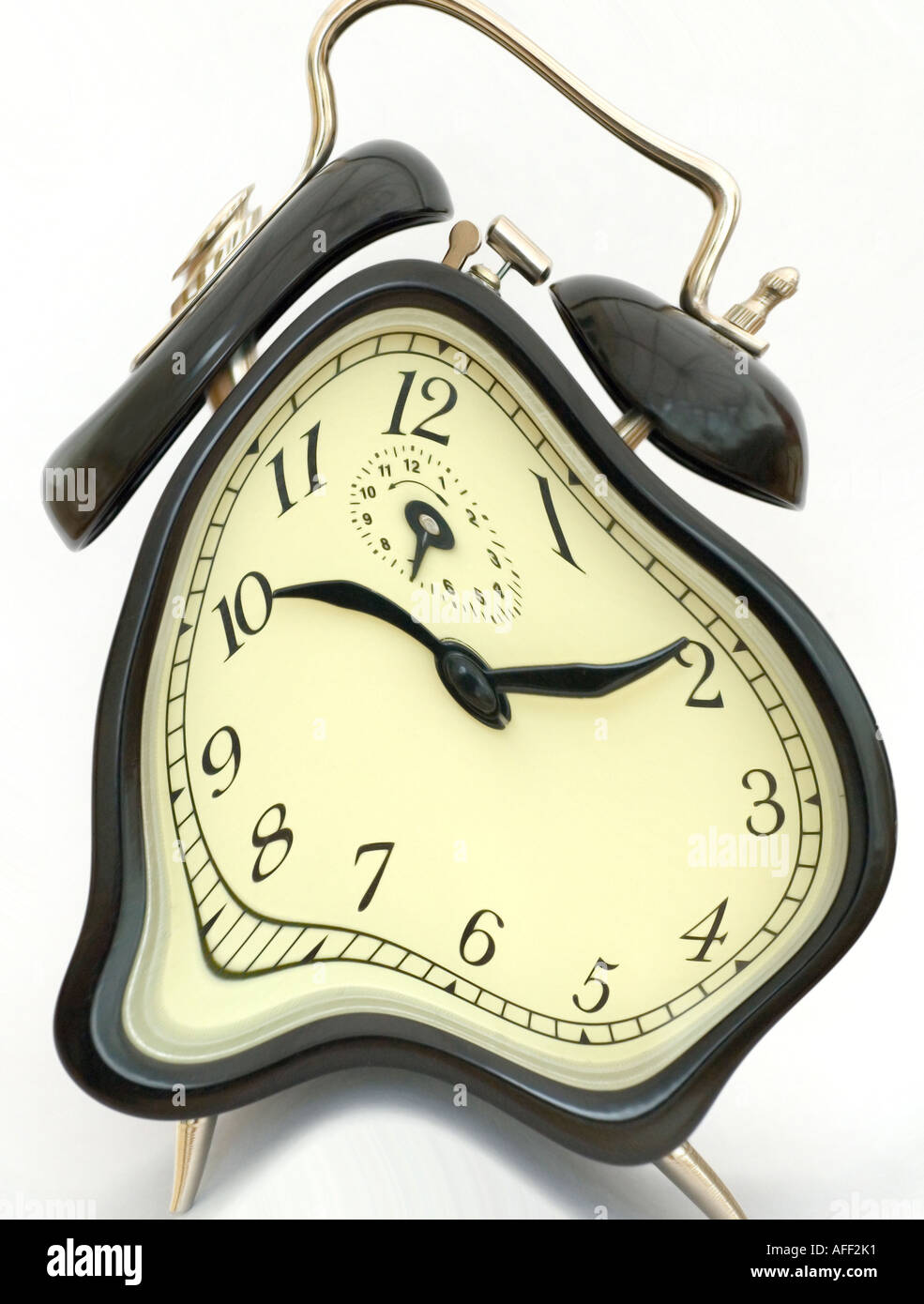 Warped Alarm Clock - Stock Image